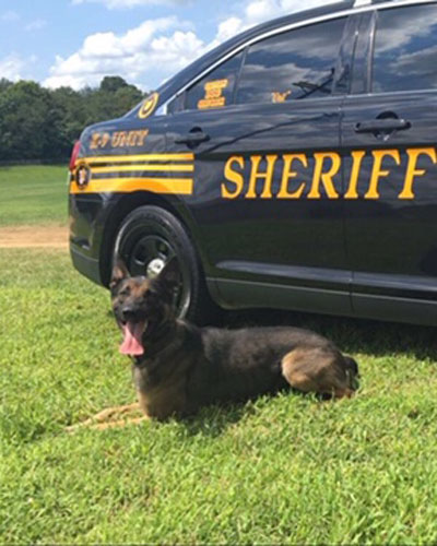 Muskingum Couty Sheriff's Office K9 Crit Deputy Shawn Williams